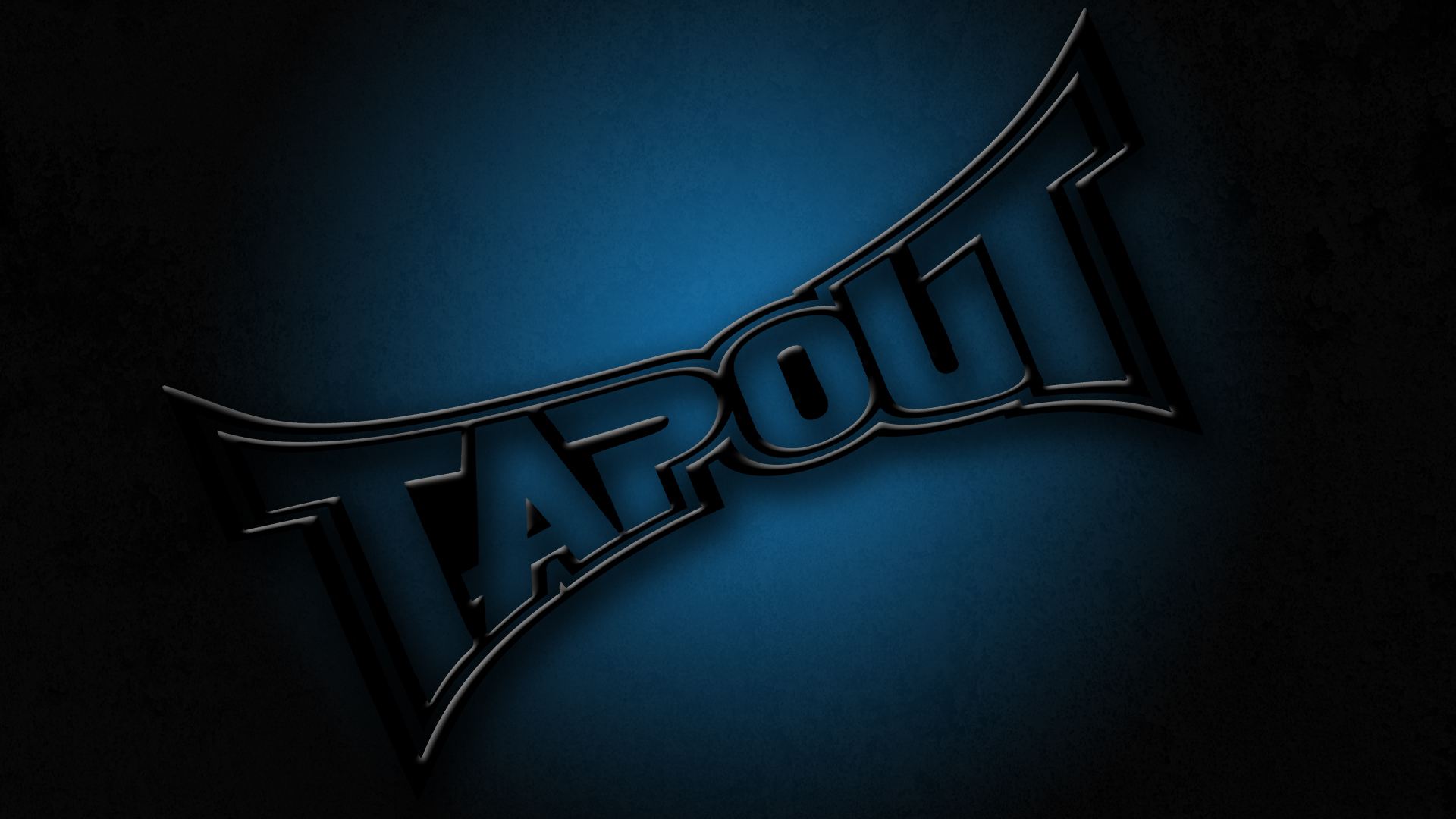 Black Tapout Logo Angled Grunge Background
