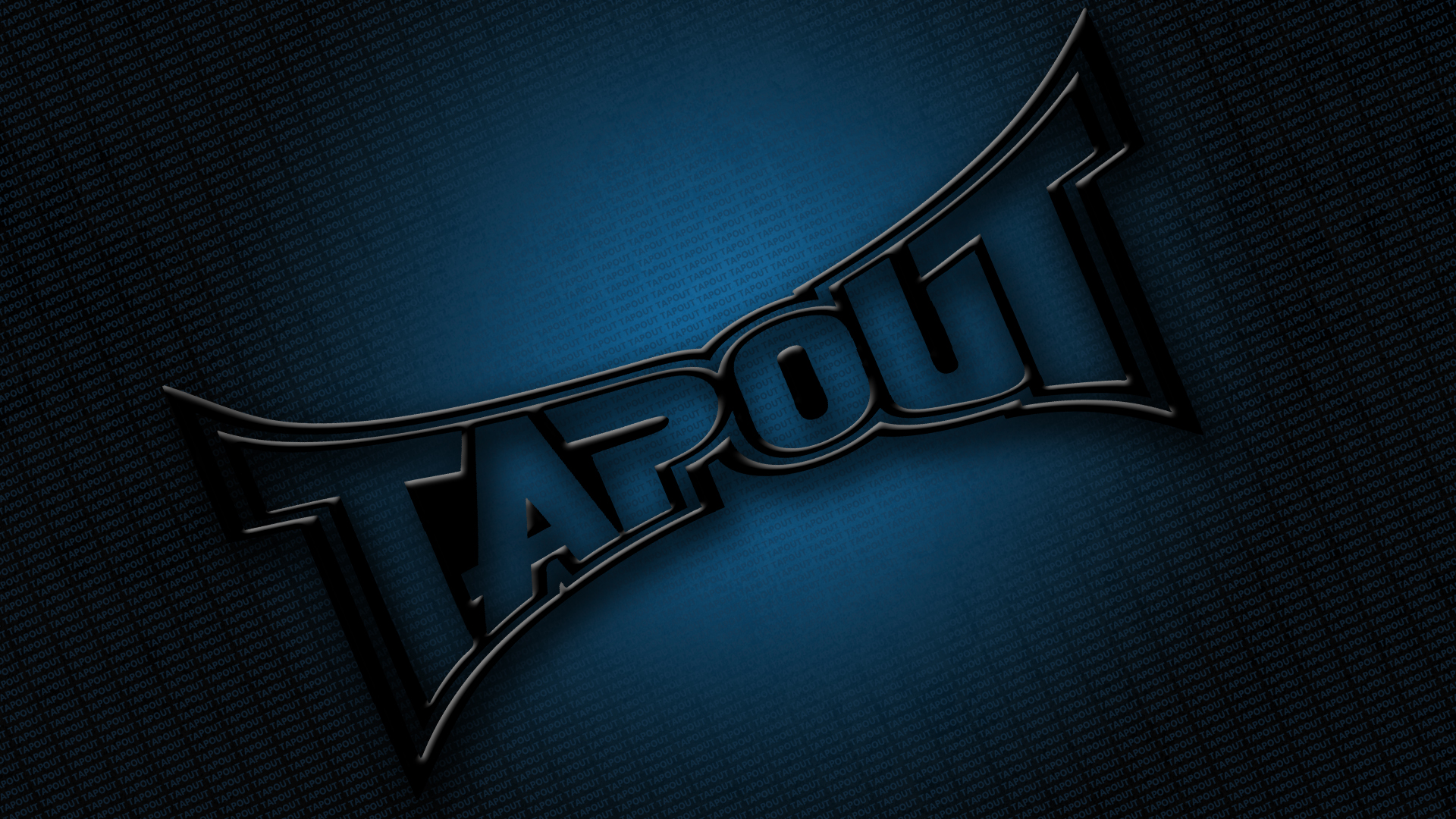 Black Tapout Logo Angled Tapout Small Print Grunge Background