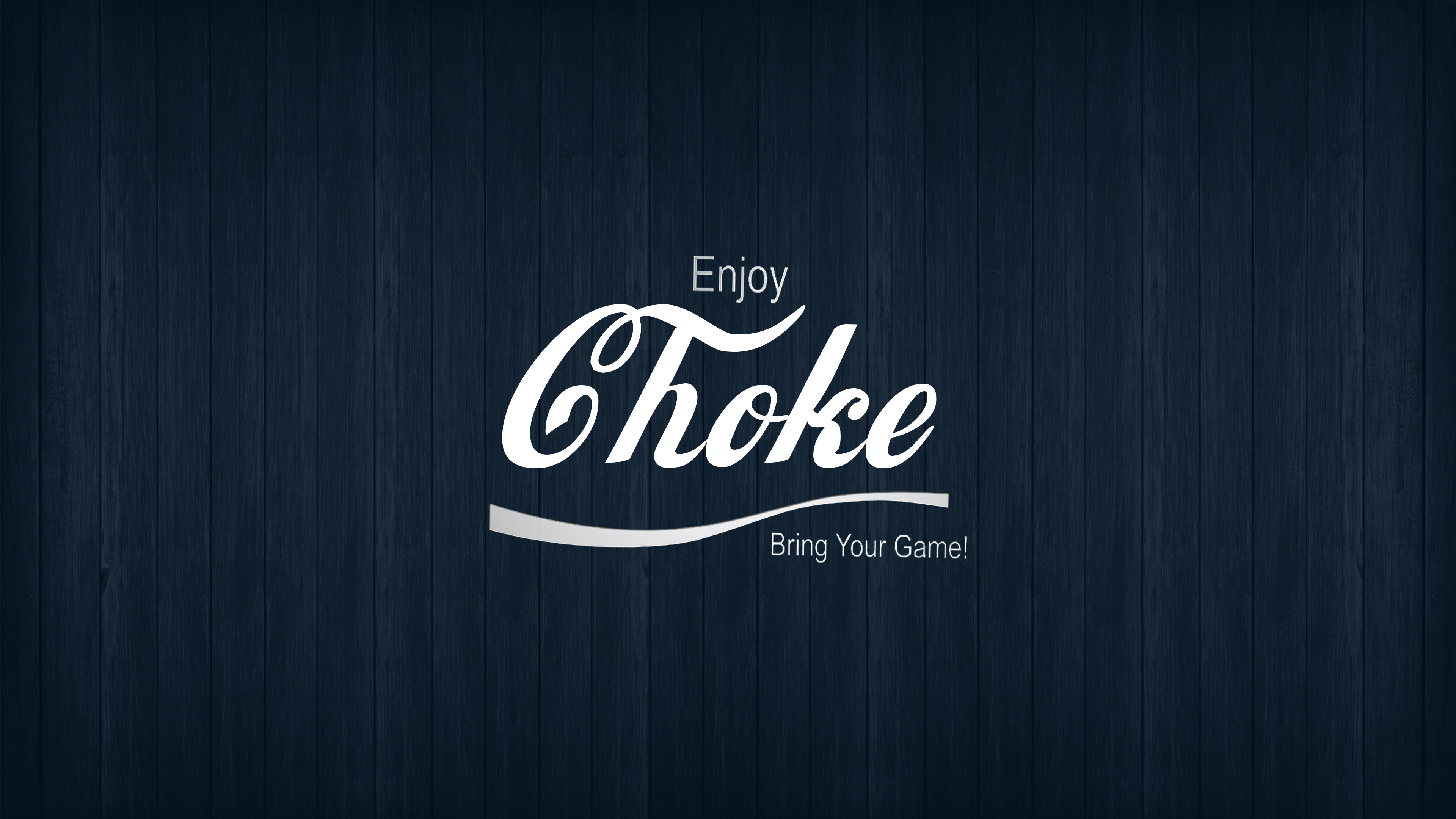 Jiu Jitsu Enjoy Choke Blue Wood Background