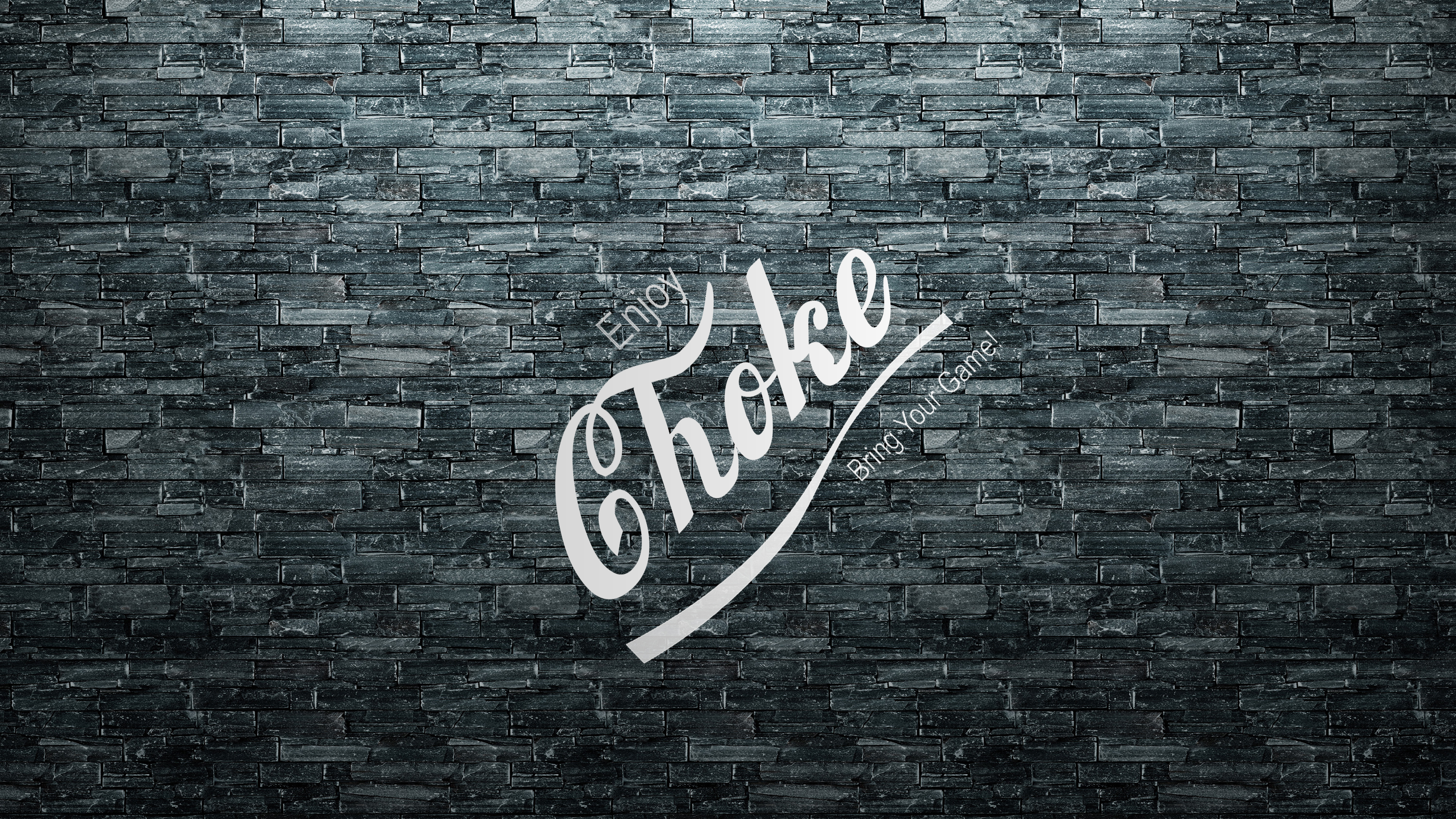 Jiu Jitsu Enjoy Choke Gray Stone Background Angled