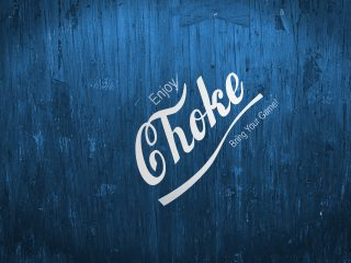 Jiu Jitsu Enjoy Choke Old Blue Wood Background Angled