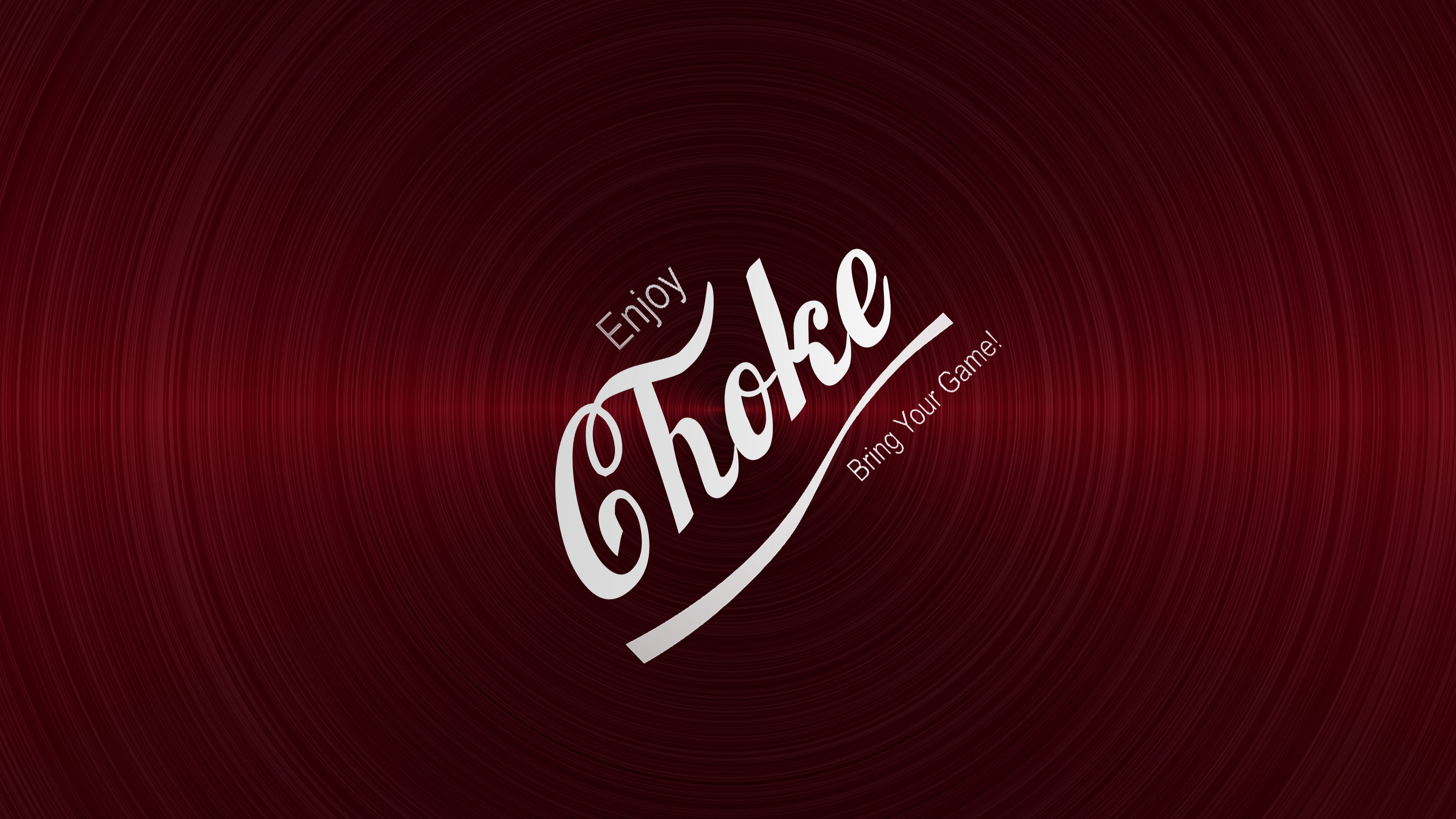 Jiu Jitsu Enjoy Choke Red Brushed Metal Background Angled