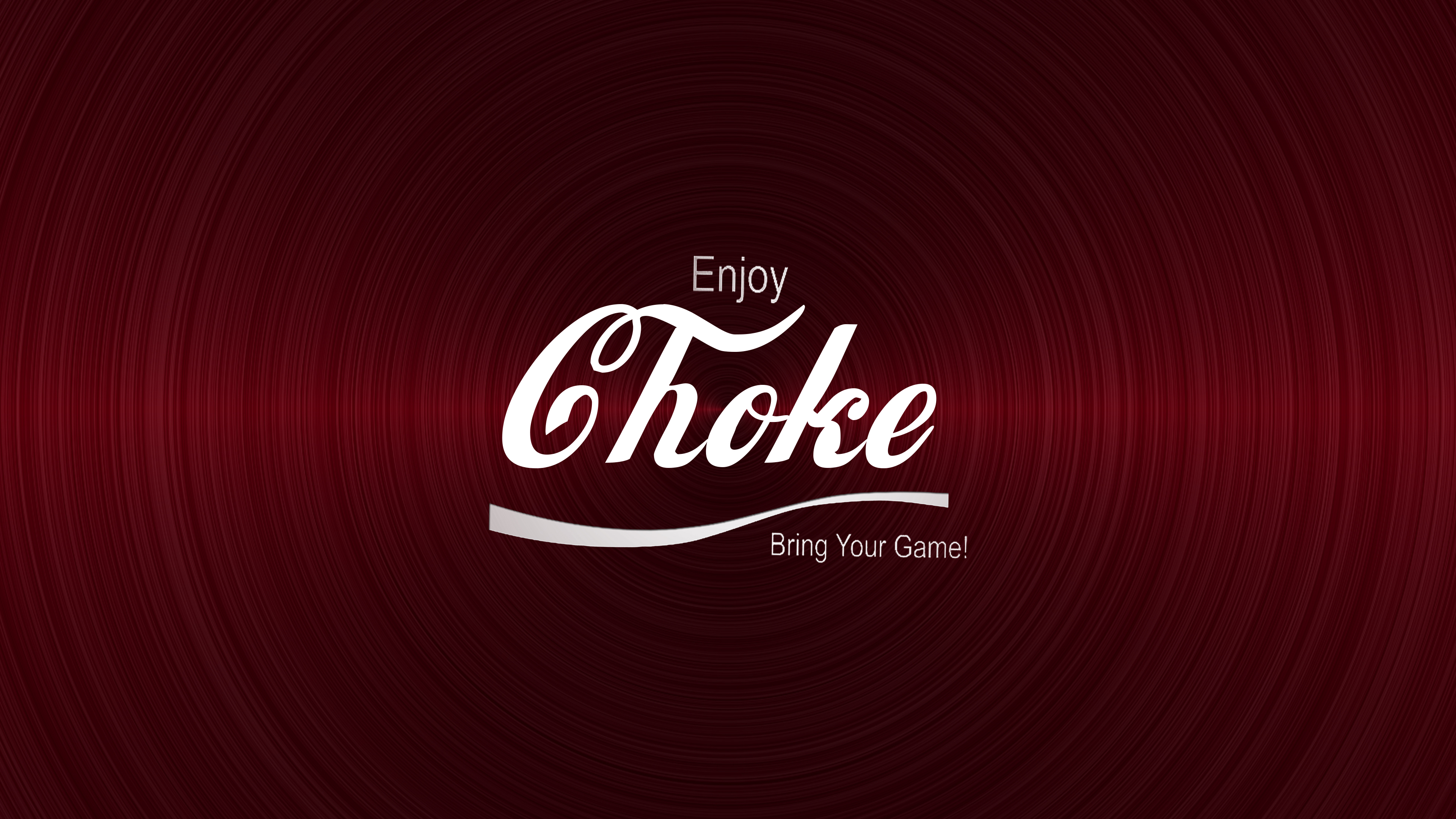 Jiu Jitsu Enjoy Choke Red Brushed Metal Background