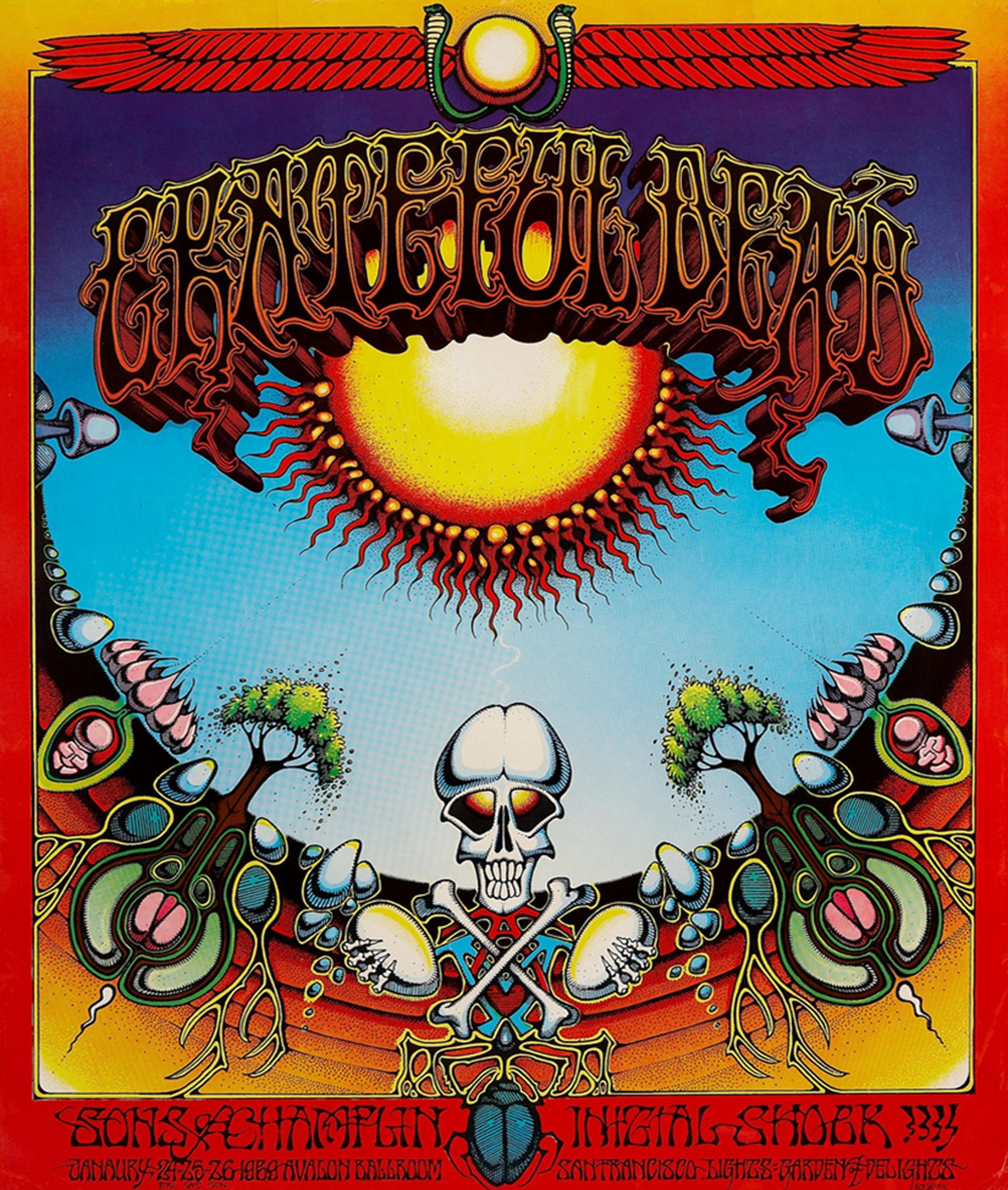 Grateful Dead Avalon Ballroon Concert Poster 1969