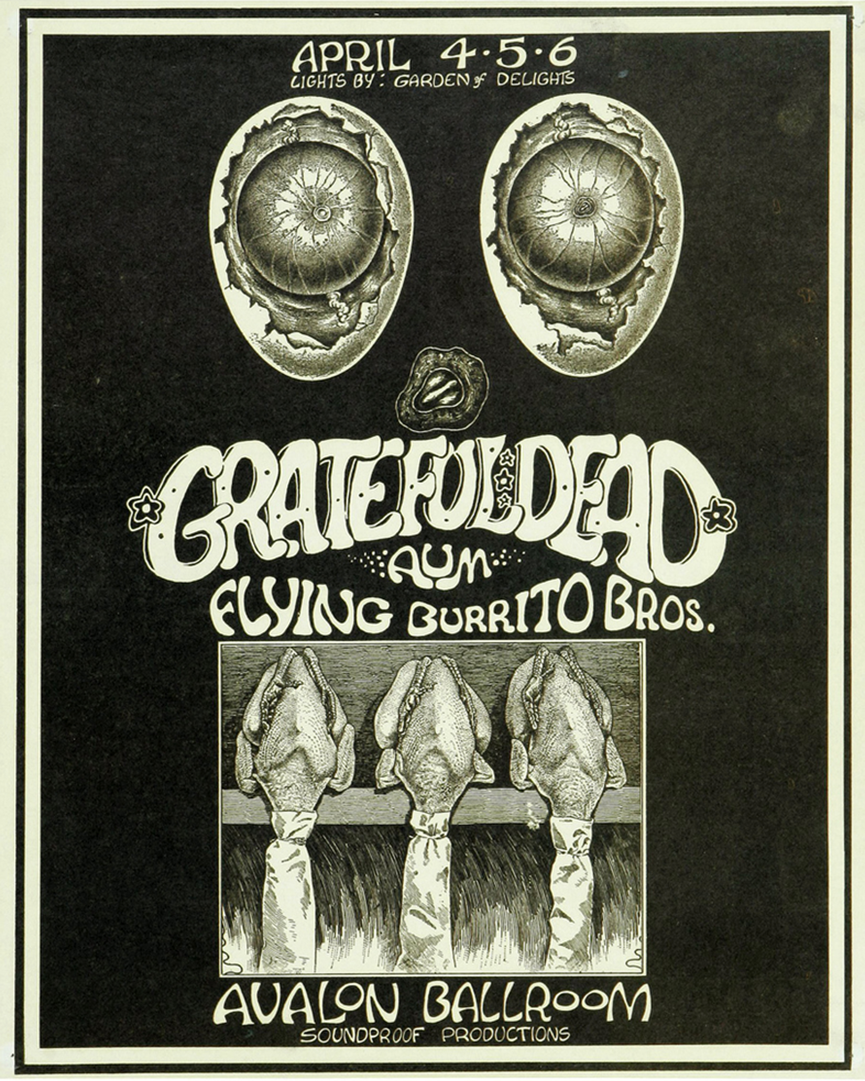 Grateful Dead Avalon Concert Poster Soundproof 1969